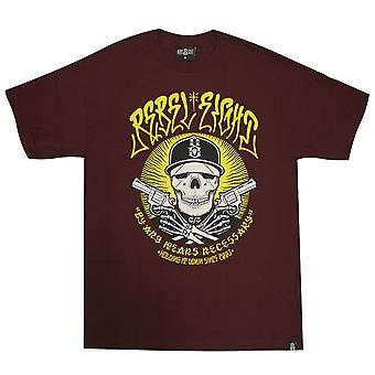 Rebel8 ieder middel mannen T-shirt Bourgondië