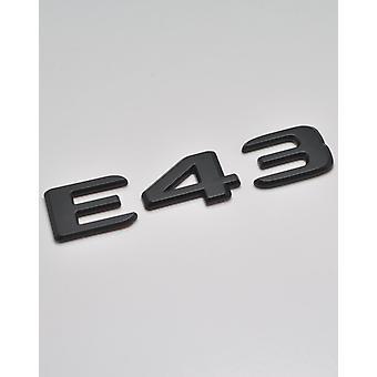 Matt Black E43 Flat Mercedes Benz Car Model Rear Boot Number Letter Sticker Decal Badge Emblem For E Class W210 W211 W212 C207/A207 W213 AMG
