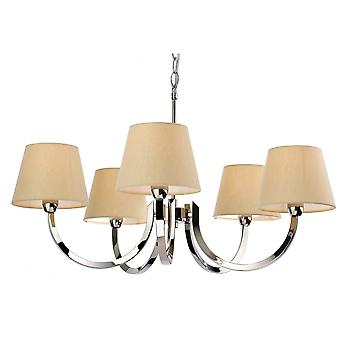 Firstlight Triumph Modern Polished Steel Candle Cream Ceiling Pendant Light Fitting
