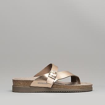 Mephisto Helen Ladies Leather Mule Sandals Old Pink
