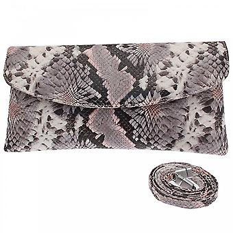 Peter Kaiser Grey Winema Fold Over Clutch