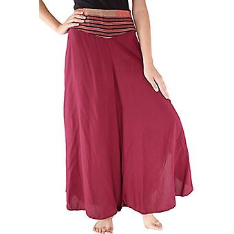 Your Cozy Plazo Pants for Women High Waist Palazzo Pants Cotton Silk Comfy Chic Palazzo Lounge Pant Burgundy