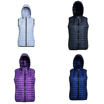 2786 Womens/Ladies Honeycomb Zip Up Hooded Gilet/Bodywarmer