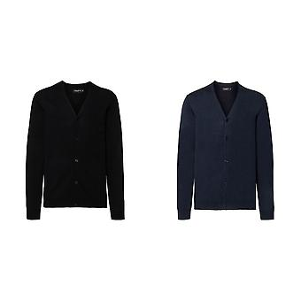 Russell Mens Cotton Acrylic V Neck Cardigan