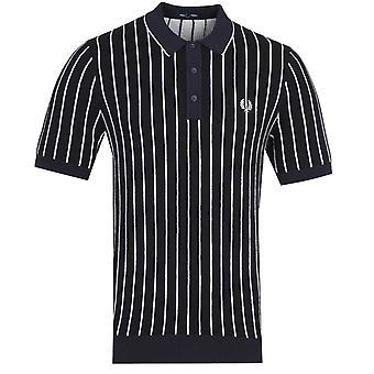 Fred Perry Kontrast Stribe Navy strikket polo shirt