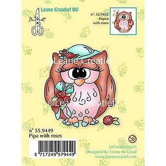 LeCrea Clear Stamp - Pipa gufo con rose