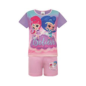 Shimmer And Shine Official Gift Toddler Girls Short Pyjamas