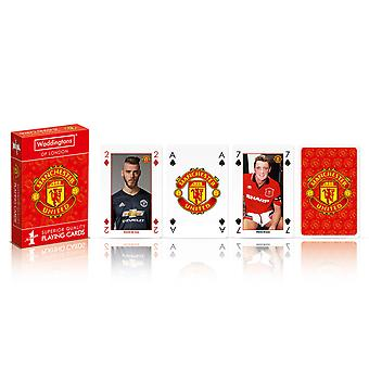 Manchester United FC Official Football Gift Waddingtons Playing Cards