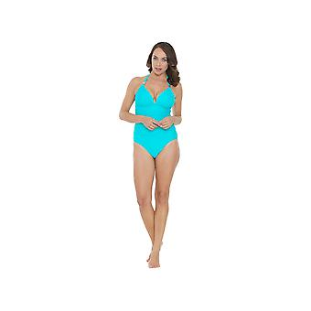 Seaspray SY006481A Women's Turquoise Blue Solid Colour Costume One Piece Swimsuit