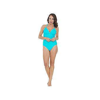 Seaspray SY006481A vrouwen Turquoise blauwe effen kleur kostuum een stuk zwembroek