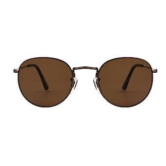 A.Kjaerbede Hello Matt Brown Round Sunglasses