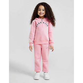 New Mckenzie Girls' Darcey 1/2 Zip Tracksuit Pink