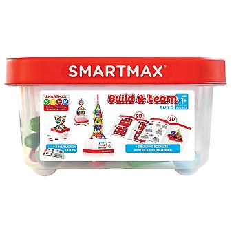 SmartMax Build and Learn Magnetic Play Set 100PCs With 2 Instruction Guides