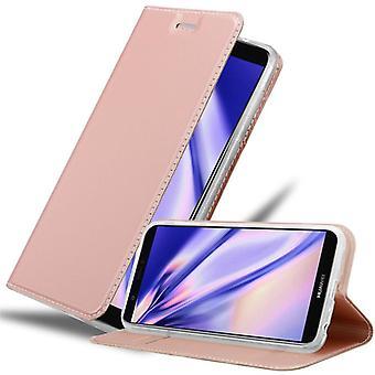 Cadorabo-fodral för Huawei P SMART 2018 / Njut av 7S-fodral - Telefonfodral med magnetiskt lås, ståfunktion och kortfack – Case Cover Protective Case Case Book Folding Style