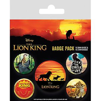 Lion King Movie Life of a King Pin Button Badges Set