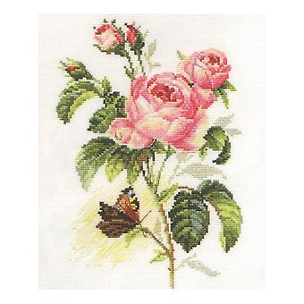 Alisa Cross Stitch Kit - Rose and Butterfly