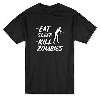Eat Sleep Kill Zombies Graphic List Design Men's T-shirt