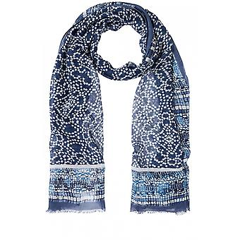 Olsen Blue Indigo Patterned Scarf