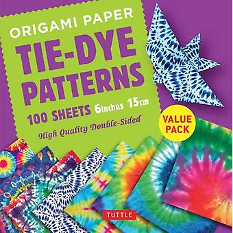 Origami Paper 100 sheets TieDye Patterns 6 inch 15 cm by Tuttle Publishing