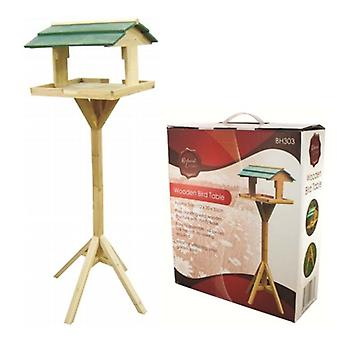 Wooden Bird Table Outdoor Garden Wildlife Nature