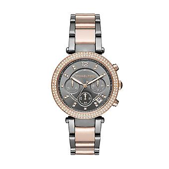 Michael Kors MK6440 Ladies Parker Two Tone Chronograph Watch - Two-tone