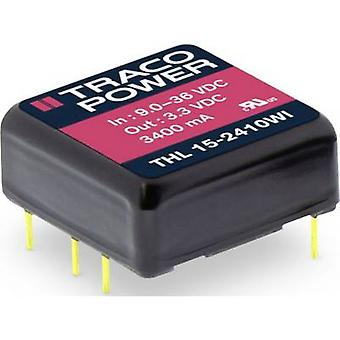 TracoPower THL 15-2411WI DC/DC converter (print) 3000 mA 15 W No. of outputs: 1 x