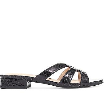 Jones Bootmaker Womens Marnie Leather Mule Sandals