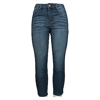 Laurie Felt Women's Petite Denim Ankle Skinny Zip Fly Jeans Blue A375166