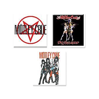 Motley Crue 3 x Fridge Magnet band logo new official Gift set