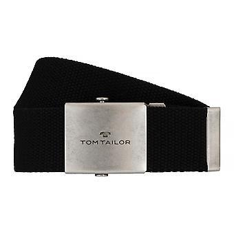 TOM TAILOR textile belt men belt jeans belt black 7608