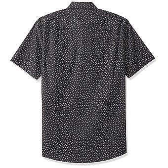 أساسيات الرجال & apos;ق العادية تناسب قصيرة الأكمام قميص طباعة, الأزهار الصغيرة, M ...