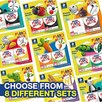 FIMO KIDS FUNNY KITS 42G POLYMER MODELLING OVEN BAKE CLAY - 8 TO CHOOSE FROM
