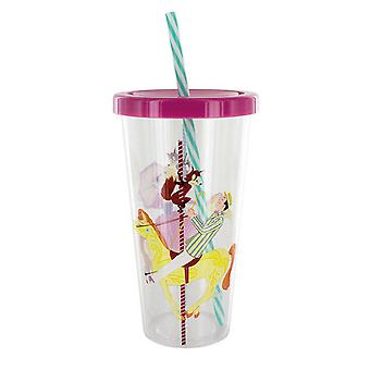 Disney Mary Poppins Tumbler Cup Straw 600ml Plastic  Kids Drink Water Bottle