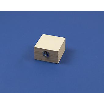 7.5cm Mini Square Wooden Box with Clasp to Decorate | Wooden Boxes for Crafts