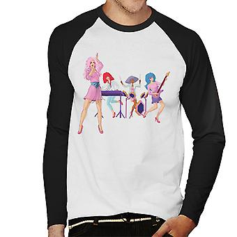 Jem And The Holograms Performing Live Men's Baseball Long Sleeved T-Shirt