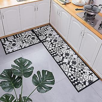 Ethnic Printed Dirt Proof Long Carpet Non-slip Rug Set - Hallway Doormat