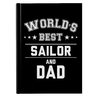 Verdens beste sjømann og pappa Hardback Journal