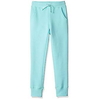 Essentials Girls' Fleece Jogger, Aqua 3T
