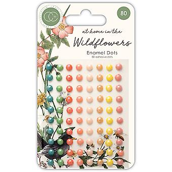 Craft Consortium At Home in the Wildflowers Adhesive Enamel Dots