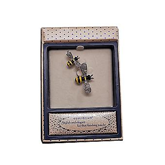 Buzzy Bees Pretty Brooch Silver by Equilibrium