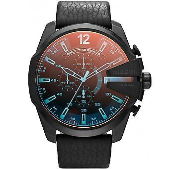 डीजल DZ4323 मेगा चीफ क्रोनोग्राफ ब्लैक डायल पुरुषों की घड़ी