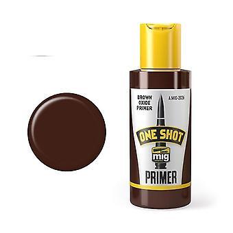 Ammo by Mig One Shot Primer - Brown Oxide Primer (60ml bottle)