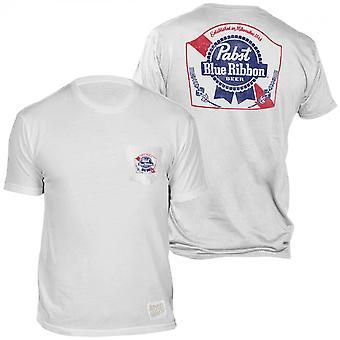 Pabst μπλε κορδέλα μπύρα μπροστά και πίσω εκτύπωση τσέπη T-Shirt