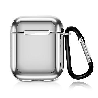 YANGFAN TPU Plating AirPods case with Carabiner