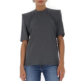 Attico 202wct04j001084 Kvinnor's Grey Cotton T-shirt