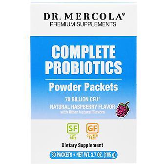 Dr. Mercola, Complete Probiotics Powder Packets, Natural Raspberry Flavor, 30 Pa