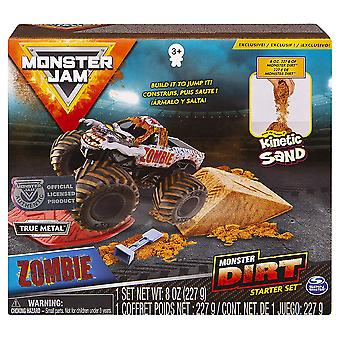 Monster Jam Kinetic Dirt Starter Set Zombie