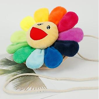 Sunflower Pendant Adorable Rainbow - Cushion Pillow Authentic Good Boy Gifts
