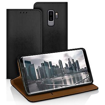 Wallet for Samsung Galaxy S9+ / S9 Plus Microfiber Card Compartment Synthetic Leather Black