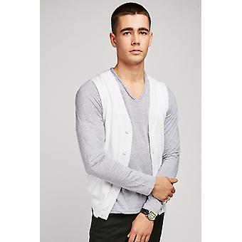Cardigan Attached Jersey Top